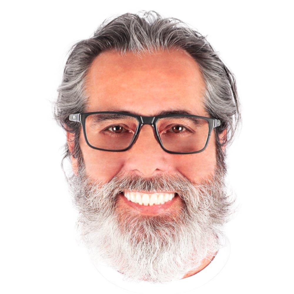 Óculos de Grau André Preto com Cinza