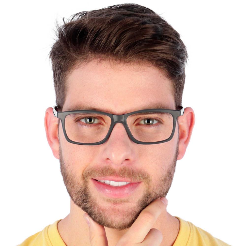 Óculos de Grau Yuri Preto com Vermelho