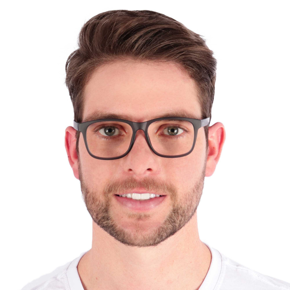 Óculos de Grau Fábio Quadrado Preto Fosco