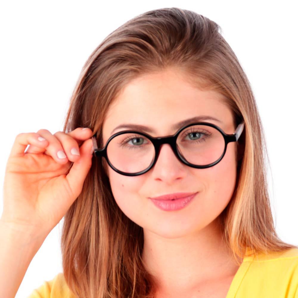 Óculos de Grau Jobs Preto com Transparente