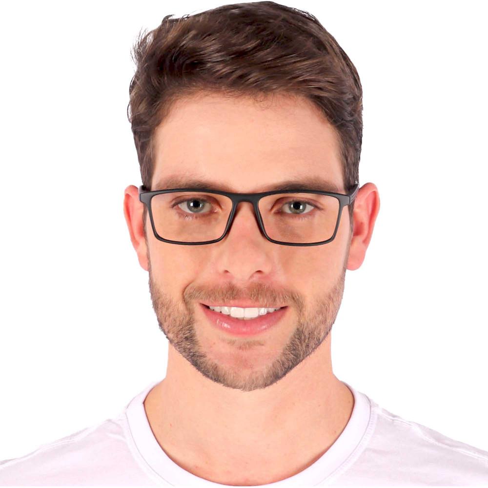 Óculos de Grau Nathan Quadrado Preto Fosco