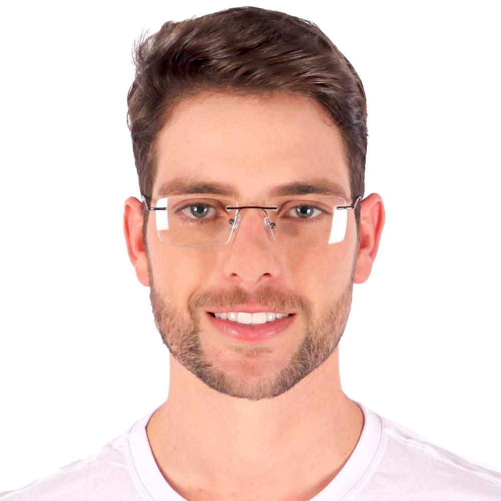 Óculos de Grau Levi Quadrado Cinza