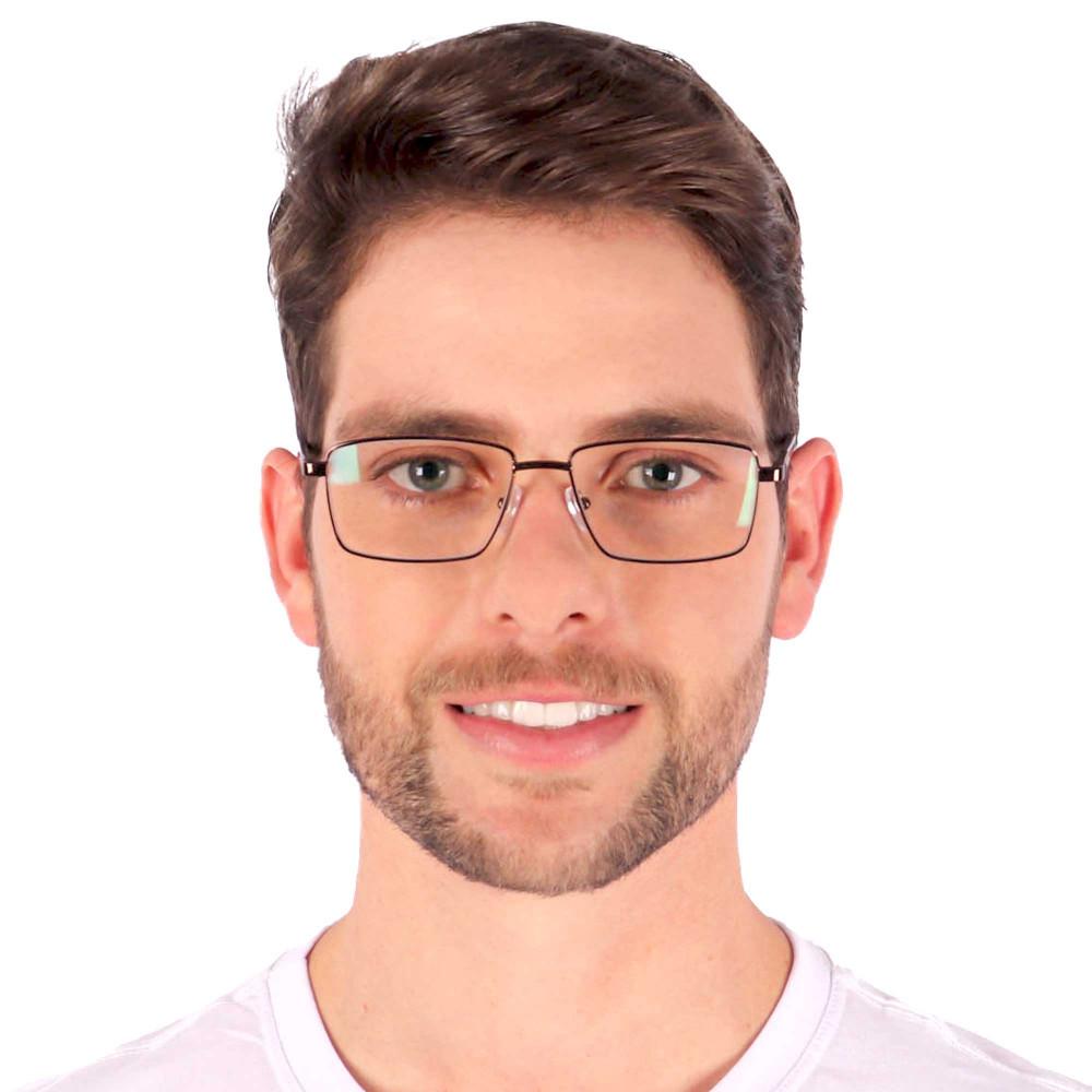 Óculos de Grau Ivan Quadrado Marrom