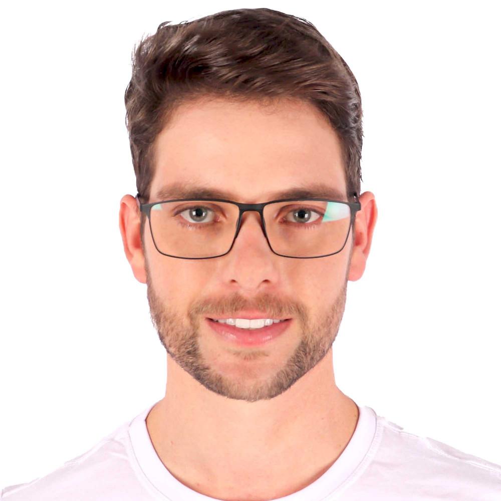 Óculos de Grau Noah Quadrado Preto Fosco