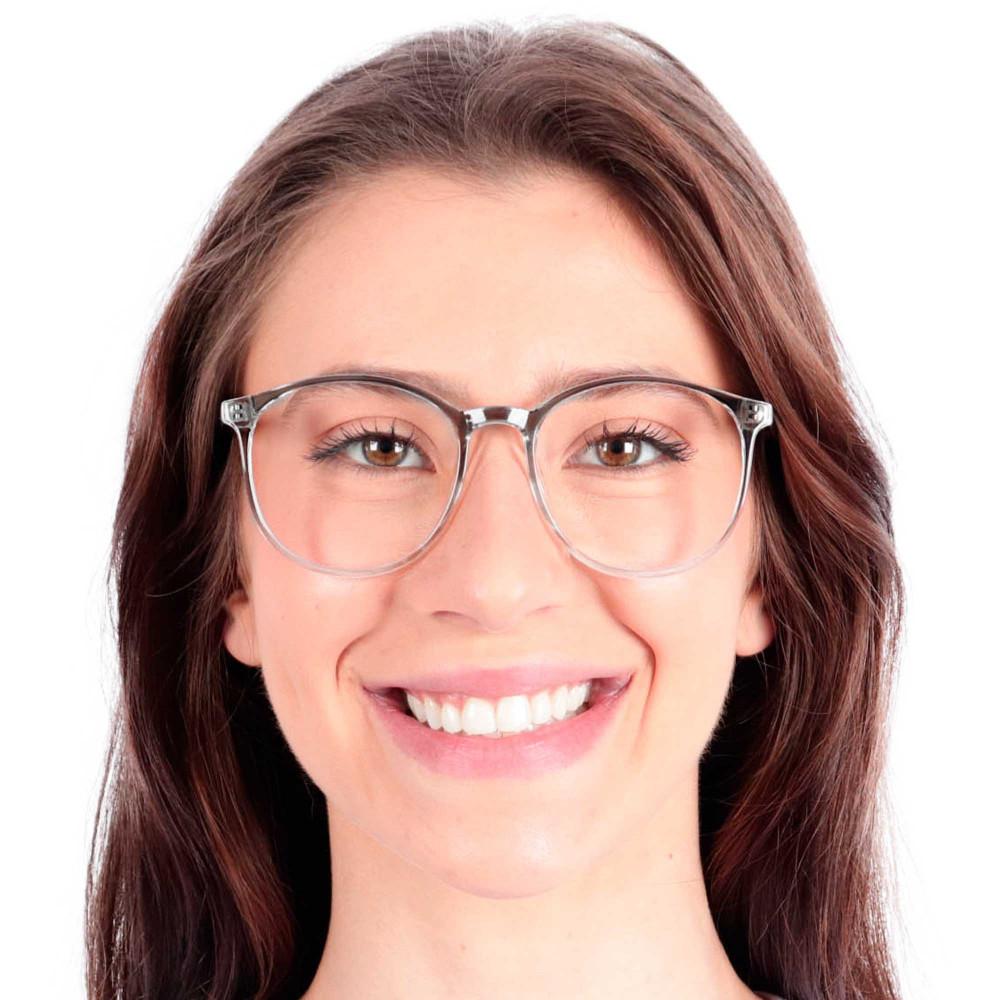 Óculos de Grau Tavares Redondo Preto com Transparente