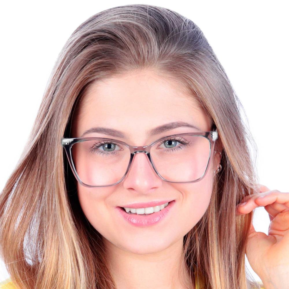 Óculos de Grau Atena Preto Transparente