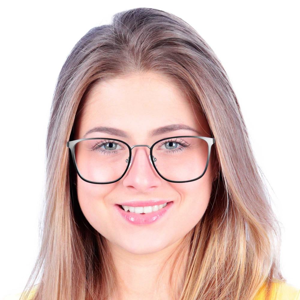 Óculos de Grau Veronica Preto com Prata