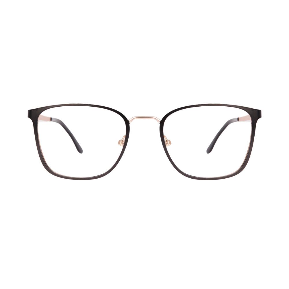 Óculos de Grau Veronica Preto com Dourado