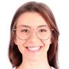 Óculos de Grau Anastacia Preto com Nude