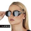 Óculos de Sol Unissex Burning   Preto com Dourado