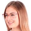 Óculos de Grau Clarissa Rosa com Transparente