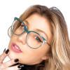 Óculos de Grau Fabiana Verde com Dourado