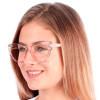 Óculos de Grau Giovanna Rosa com Creme