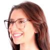 Óculos de grau Katy Gatinho Roxo com Nude