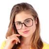 Óculos de Grau Natali Preto com Dourado