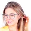 Óculos de Grau Veridiana Azul Transparente