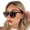 Óculos de Grau Virgínia Redondo Preto Fosco
