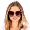 Óculos de Sol Isis Hexagonal Dourado