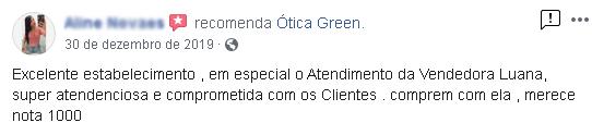 otica green é confiavel